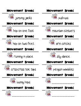 Movement Break Tickets