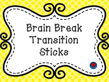 Brain Break Transition Sticks