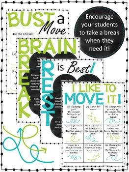 Movement Break and Brain Break Menus