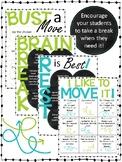 Movement Break and Brain Break Menus