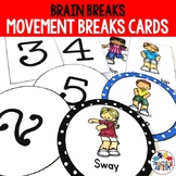 Movement Breaks Brain Breaks Cards
