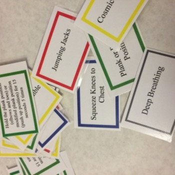 Movement Breaks with a Purpose complete SET- Laminated Cards and Instructions