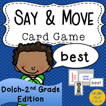 Movement Card Game for Dolch Second Grade Sight Words
