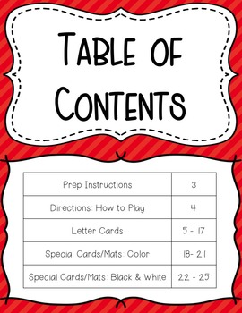 Movement Card Game for Letter Recognition or Letter Sound Associations