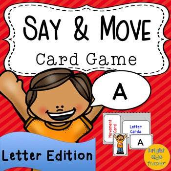Movement Card Game for Letter Recognition or Letter Sound