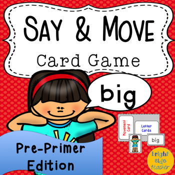 Movement Card Game for Pre-Primer Sight Words