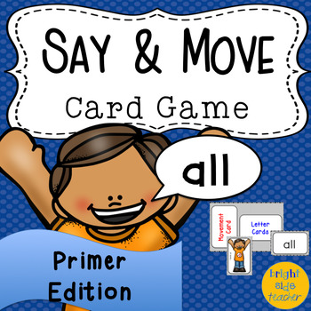Movement Card Game for Primer Sight Words