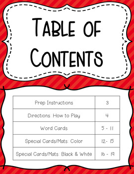 Movement Card Game for Short A Decodable Words