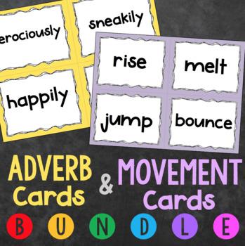 Movement Cards & Adverb Cards Bundle - Creative Movement Lesson