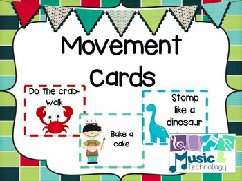Movement Cards- Move like... (Set of 68 cards)