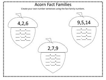 Acorn Fact Families