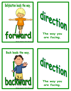 Movement Flash Cards Directions
