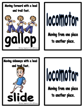Movement Flash Cards Locomotor