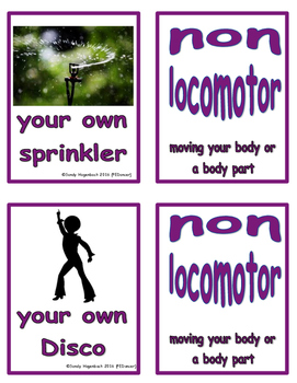 Movement Flash Cards Non Locomotor