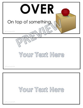 ONTARIO SCIENCE: GRADE 2 MOVEMENT ILLUSTRATED WORD WALL CARDS