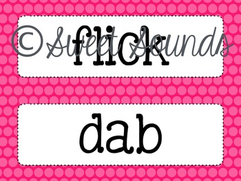 Movement Labels {Word Wall Cards}