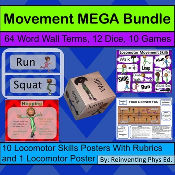 Movement MEGA Bundle: 5 Products: Dice, Word wall, Games, and Two Poster Sets