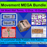 Movement MEGA Bundle: 5 Products: Dice, Word wall, Games,