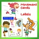 Card Set for Music, K-2nd: Movement Picture Cards