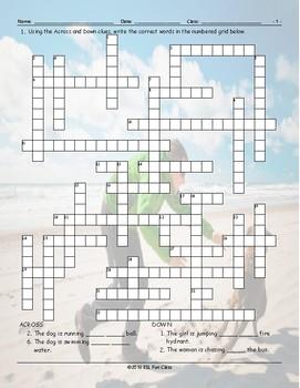 Movement Prepositions Crossword Puzzle