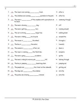 Movement Prepositions Matching Exam Exam