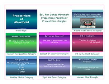 Movement Prepositions PowerPoint Presentation