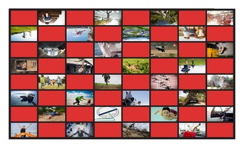 Movement Prepositions Spanish Legal Size Photo Board Game