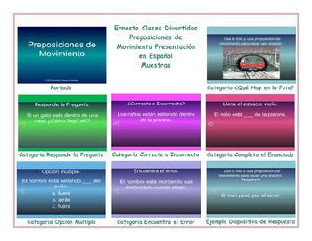 Movement Prepositions Spanish PowerPoint Presentation