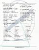 Movement Prepositions Word Spiral Spanish Worksheet