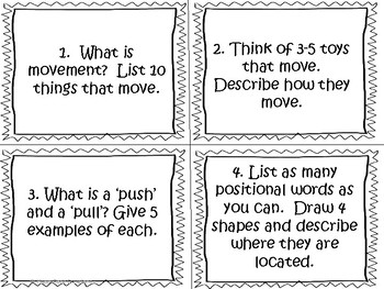 Movement (Simple Machines) Task Cards and Worksheets