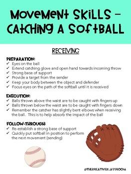 Movement Skills - Catching a Softball