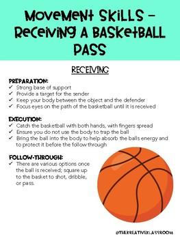 Movement Skills - Receiving a Basketball Pass