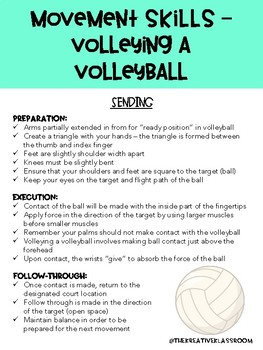 Movement Skills - Volleying a Volleyball