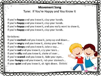 Movement Song (tune:  If you're happy and you know it)
