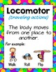 Movement Cards  and Word Wall {Editable PowerPoint}