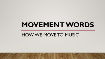 Movement Word Wall