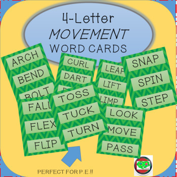 4-Letter Movement Word Cards