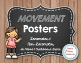 Movement Word Wall/Terms for Music, Dance, & Gym - Locomotor & Non-Locomotor