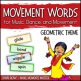Movement Word Wall for Music, Dance, or Movement - Geometric Theme
