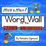 Movement Word Wall for Music, Movement & Dance: Rainbow Music Theme