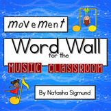 Movement Word Wall for Music, Movement & Dance: Rainbow Music Theme