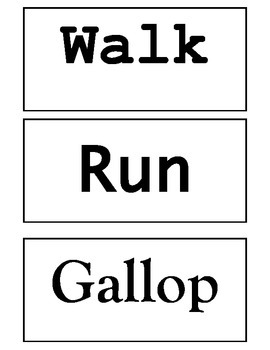 Movement Words