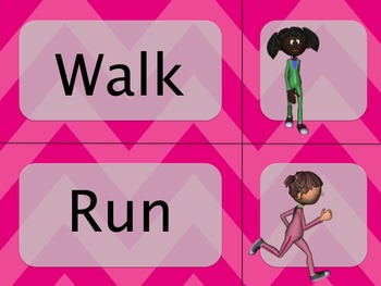 Movement Wordwall Pink: Locomotor, Non-Locomotor, Directions and Pathways