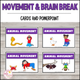 Movement and Brain Break Cards and PowerPoint