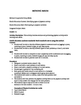 Movement and Math Lesson Plan 1