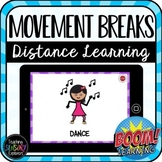 Movement and Sensory Breaks Digital Boom Cards for Distance Learning