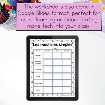 Movement and Simple Machines Unit/ Le mouvement et les machines simples (French)