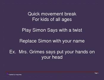 Movement break with a new twist