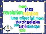 Movement of Earth, Moon, and Sun Study Guide and Quiz- Third Grade