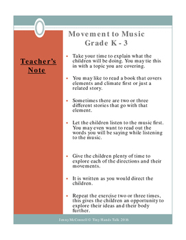 Drama - Movement Lessons - ELEMENTS - PreK-3